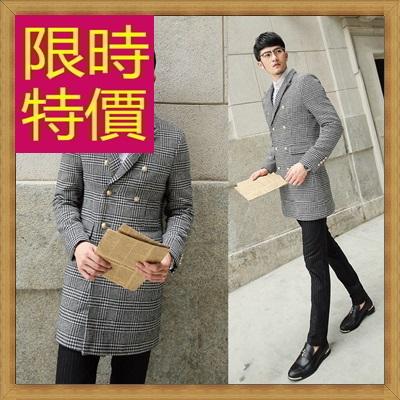 毛呢外套 男大衣-羊毛保暖短版男風衣62n74【韓國進口】【米蘭精品】