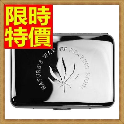 香煙盒 煙具-香菸盒純銅精緻銀楓葉隨身16支裝菸具65a24【獨家進口】【米蘭精品】