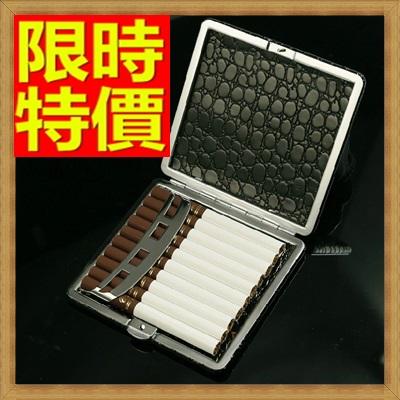 香煙盒 煙具-香菸盒男士必備小巧隨身黑皮10支裝菸具65a27【獨家進口】【米蘭精品】