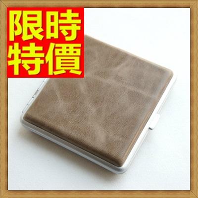 香煙盒 煙具-香菸盒經典自動按鈕羊皮純手工20支裝菸具65a49【獨家進口】【米蘭精品】