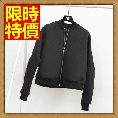夾克外套 太空棉外套-素面蝙蝠袖加厚短款女外套65ab12【獨家進口】【米蘭精品】