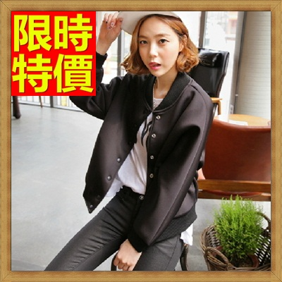 棒球外套 太空棉外套-韓版休閒蝙蝠袖女外套65ab4【獨家進口】【米蘭精品】