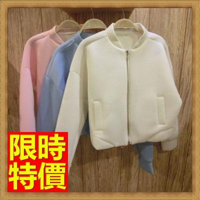 夾克外套 太空棉外套-蝙蝠袖純色短款女外套2色65ab50【獨家進口】【米蘭精品】