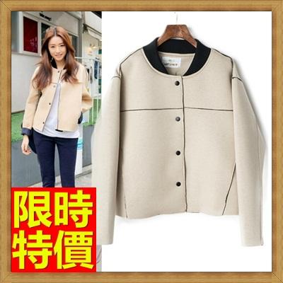 棒球外套 太空棉外套-百搭加厚寬鬆短款女外套3色65ab8【獨家進口】【米蘭精品】