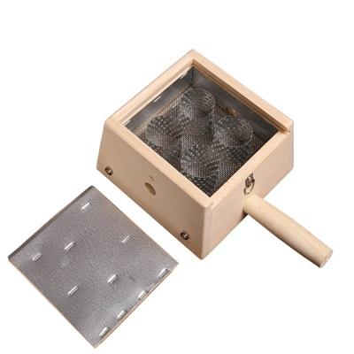 艾草針灸盒 艾灸器具-竹製四孔盒隨身灸盒溫多功能65j17【獨家進口】【米蘭精品】