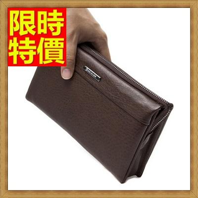 手拿包 錢包-尊貴金屬霸氣十足鴕鳥紋男皮包2色2款-大65s49【獨家進口】【米蘭精品】