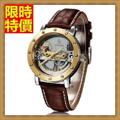機械錶 手錶-陀飛輪自動時尚前衛真皮鏤空男士腕錶4色66ab23【獨家進口】【米蘭精品】