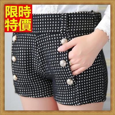 短褲 西裝褲-微十字可愛鑲填圓鈕扣女褲子3色66ai43【獨家進口】【米蘭精品】