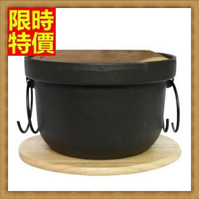 鑄鐵鍋 煲湯鍋具-手工鑄造釜飯鍋鐵湯鍋燉鍋1色66f27【獨家進口】【米蘭精品】