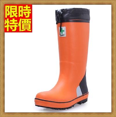 長筒雨靴 雨具-安全舒適鋼包頭防砸耐磨男雨鞋2色67a15【獨家進口】【米蘭精品】
