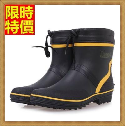 中筒雨靴 雨具-舒適吸汗時尚撞色戶外男雨鞋67a24【獨家進口】【米蘭精品】
