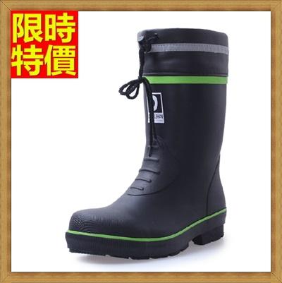 中筒雨靴 雨具-鋼包頭防砸防碰耐磨安全男雨鞋2色67a29【獨家進口】【米蘭精品】