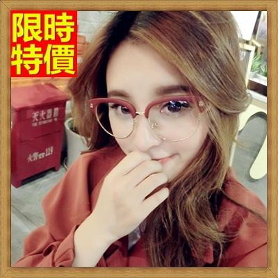 眼鏡框 眼鏡架-個性骷髏半框流行男女配件7色67ac30【獨家進口】【米蘭精品】