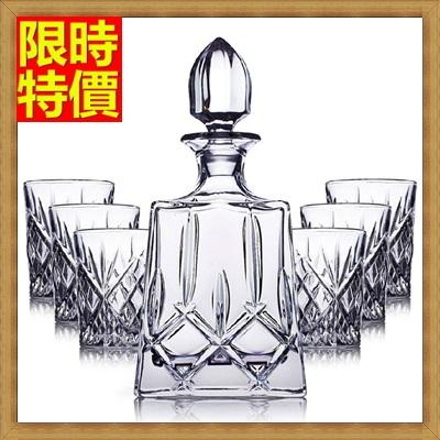 酒具套組套組含酒瓶+酒杯-玻璃瓶威士忌新穎造型水晶7件套酒具用品68t20【獨家進口】【米蘭精品】