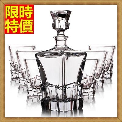 酒具套組套組含酒瓶+酒杯-玻璃瓶時尚簡約厚實威士忌杯7件套酒具用品68t21【獨家進口】【米蘭精品】