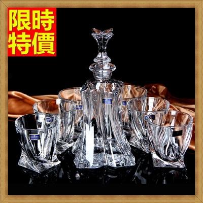 酒具套組套組含酒瓶+酒杯-玻璃瓶精緻造型醒酒洋酒杯7件套酒具用品68t24【獨家進口】【米蘭精品】