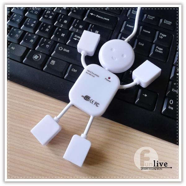 【aife life】人形四孔USB分享器/USB延長線/USB擴充槽/分享器/分配器/人型usb分享器