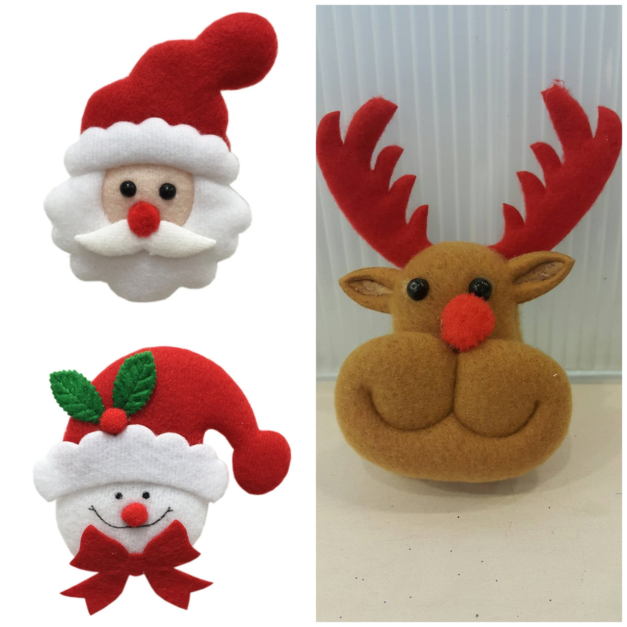 X射線【X293573】閃燈聖誕公仔胸針,聖誕節/交換禮物/掛飾/裝飾/DIY/材料包/徽章/別針