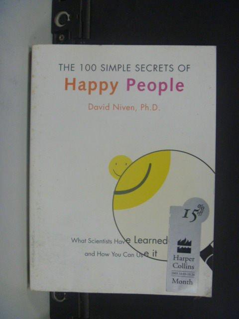 【書寶二手書T4/勵志_JDY】The 100 Simple...Happy People_NIVEN