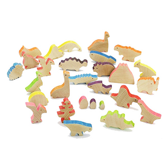 恐龍物語積木/設計創意 原木兒童生日禮物 非樂高玩具