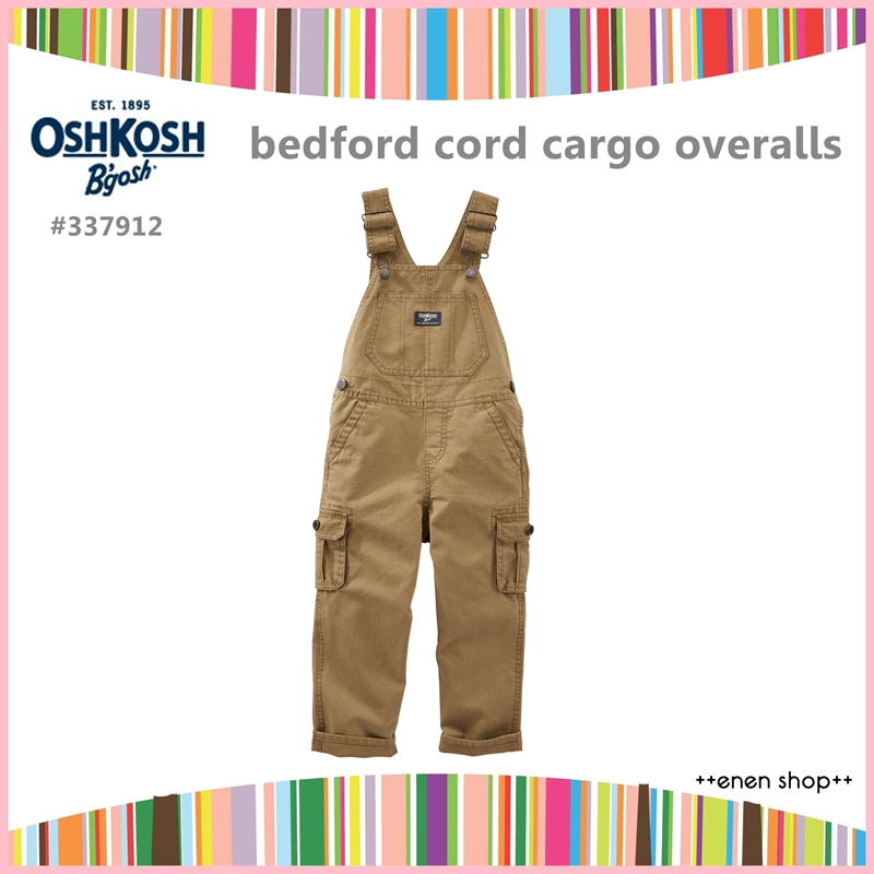 Enen Shop @OshKosh B'gosh 卡其款口袋工作吊帶褲∥12M/18M/24M/2T/3T/4T
