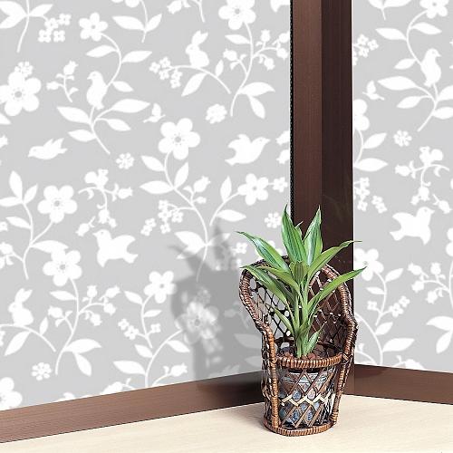 【零碼】日本MEIWA抗UV節能靜電窗貼 (花卉小物) - 44x100公分