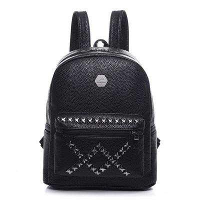 後背包鉚釘雙肩包-個性XX酷炫流行女包包3色73fd64【獨家進口】【米蘭精品】