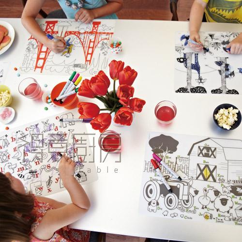 Modern Twist 兒童矽膠餐墊套組(含4色彩筆) 絕版品出清65折