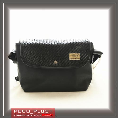 PocoPlus 新款韓版 編織包 斜背包 超質感原創設計 潮男【B570】