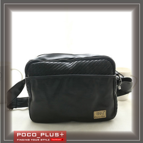 PocoPlus 韓版潮流 時尚男士包 編織包 斜背包 原創設計   【B580】