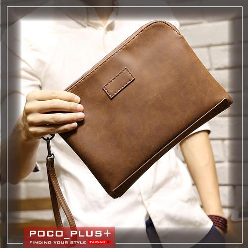 PocoPlus韓版新款 復古IPAD包 公事包 手拿包 時尚男包【B643】