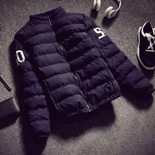 PocoPlus 男外套  韓式作風 保暖外套 防風外套 舖棉外套  輕羽絨外套 圖騰外套 C060