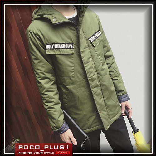 PocoPlus 軍裝外套 飛行外套 連帽外套 加厚外套  韓系棉服外套【C275】