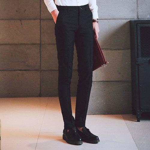 PocoPlus 休閒低腰微彈免燙 時尚韓版顯瘦小腳休閒褲M012