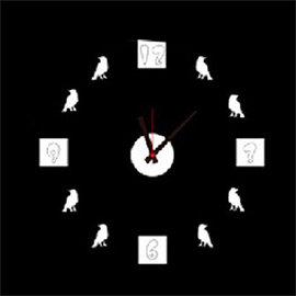 WallFree窩自在 韓版DIY創意壁貼時鐘E003-小鳥時鐘(附靜音機芯)