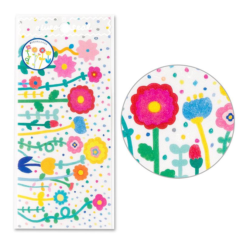 *小徑文化*日本進口 IROHA - AIUEO 系列布貼紙 - 盛開的花 ( SR-90 )