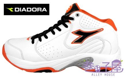【巷子屋】義大利國寶鞋-DIADORA迪亞多納 男鞋籃球鞋 [7353] 白黑橘 超值價$756