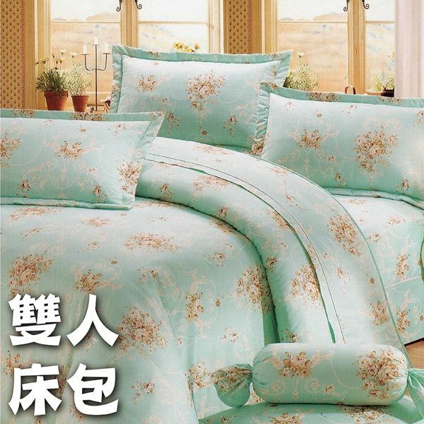 雙人7件式床罩組 (舒情)【專櫃精品、100%純綿、台灣製 】# 寢國寢城