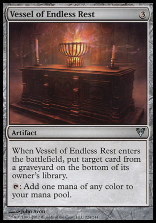 【冰河森林】MTG魔法風雲會Avacyn Restored艾維欣重臨AVR NO.224英文版Vessel of Endless Rest長眠之皿(UC卡 非普 無色 瞬間)
