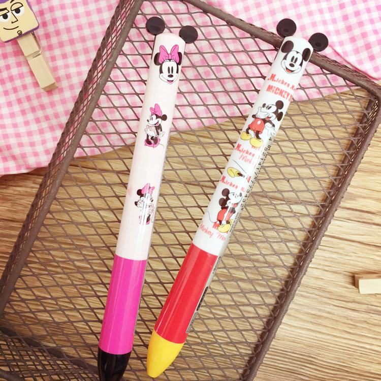 PGS7 日本迪士尼系列商品 - 插圖 撞色 系列 造型 雙色原子筆 原子筆 雙色筆 筆 米奇 米妮