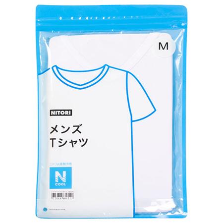 接觸涼感 男士V領T恤 N COOL WH/M