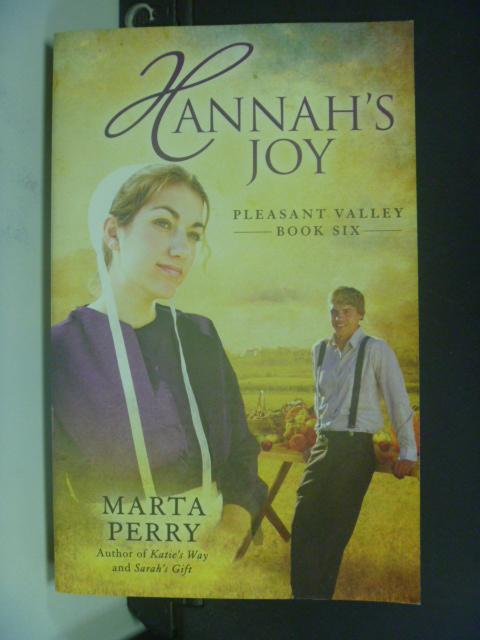 【書寶二手書T2/原文小說_HIV】Hannah's Joy_Perry, Marta