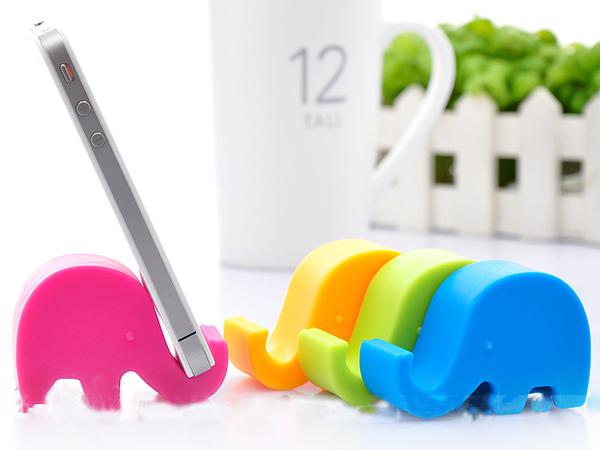BO雜貨【SV6114】 可愛糖果色大象手機座 平板架 筷架 筆架 名片座 療癒小物