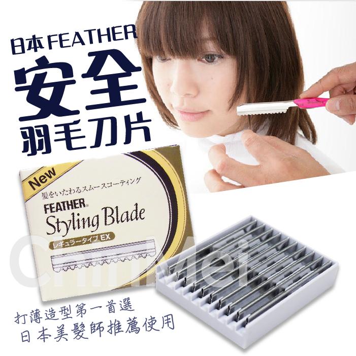 【晴美髮舖】FEATHER 日本 羽毛 安全 刀片 削刀片 單盒 10片 理髮 修剪 層次 打薄 剪髮 美髮【Chinmei】