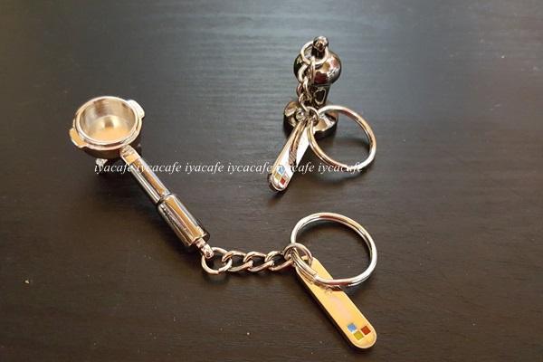 《愛鴨咖啡》迷你填壓器 鑰匙圈 義式咖啡機把手