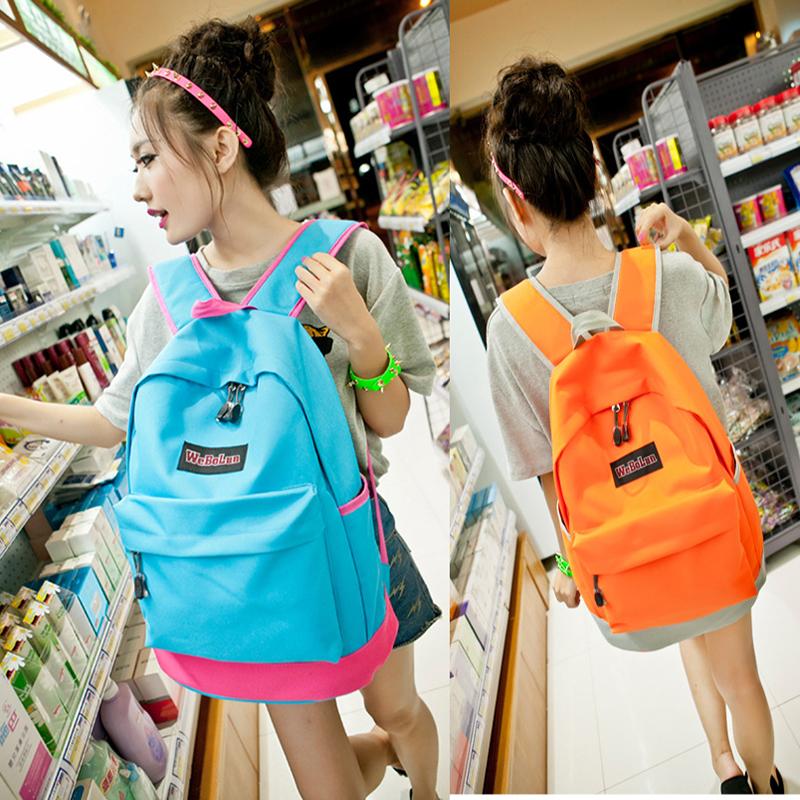 復古休閒後背包 出國旅遊背包 手提包包 學生書包--夏日時光 |  …_插圖