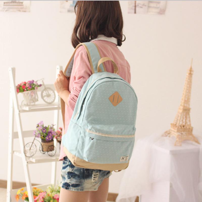 豬鼻子帆布小清新背包 後背包 學生書包 旅行包包 --夏日時光