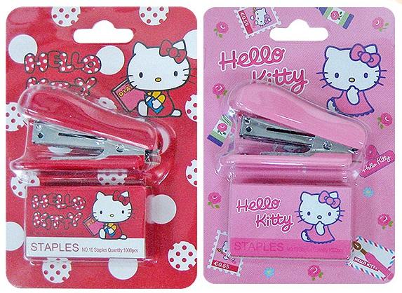 【真愛日本】14021900010  迷你訂書機卡裝-KT兩款 文具 裝訂 生活雜貨 kitty 三麗鷗 Sanrio