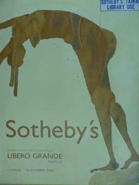 【書寶二手書T7/收藏_XDX】Sothebys_2004/10/19_Libero Grande