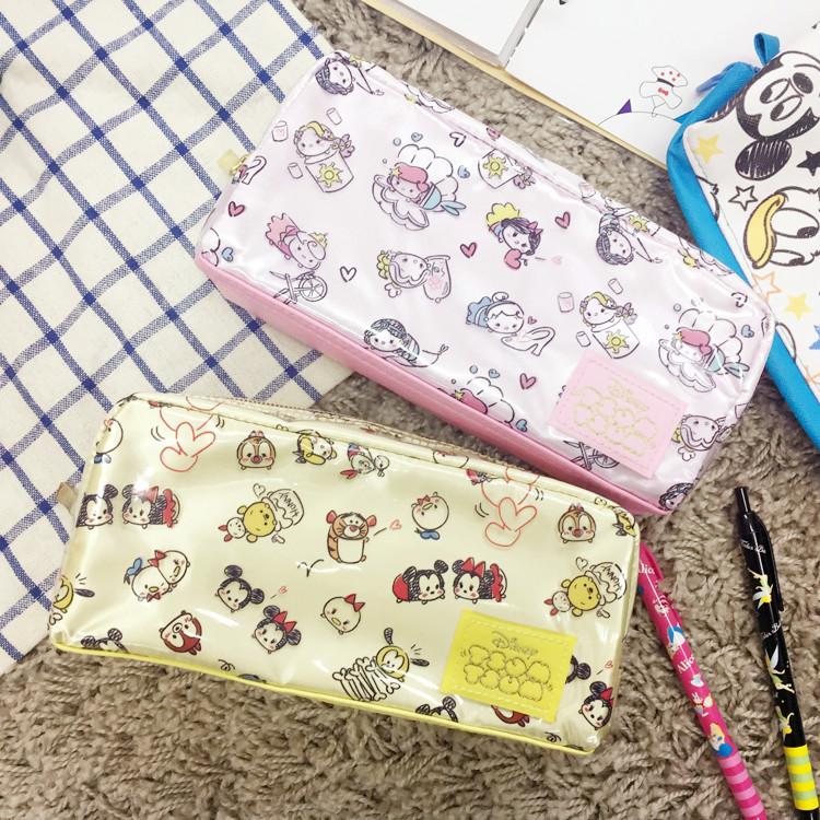 PGS7 (現貨+預購) 迪士尼系列商品 - 日本 迪士尼 tsum tsum 滿版 拼接 防水 筆袋 鉛筆盒 收納包